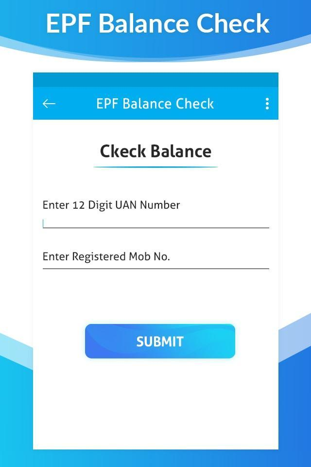Check Online EPF Balance for Android - APK Download