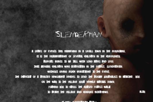 Slender man by Bitmogade poster