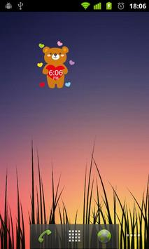 CuteBear Clock Widget poster