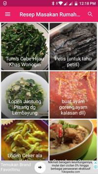 Resep Masakan Rumahan Jawa poster