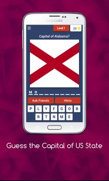 Guess the Capital of US State poster