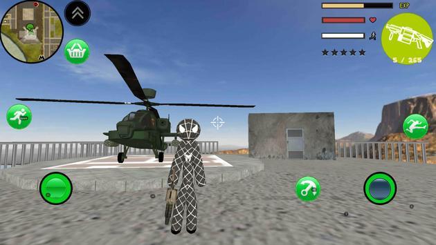Black Spider Stickman Rope Hero Gangstar Crime screenshot 1