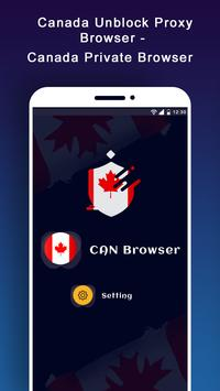 Canada Unblock Proxy Browser - Private Browser poster