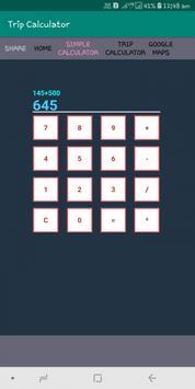 Trip Calculator screenshot 1