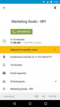 Calendário do BlackBerry imagem de tela 4