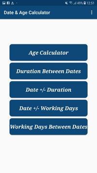 Date & Age Calculator screenshot 1