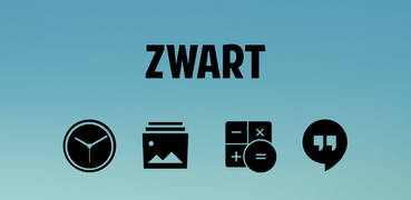 Zwart - Black Icon Pack