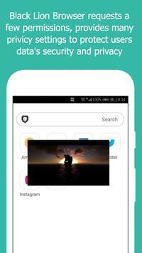 Black Lion Browser-Video downloader and browser screenshot 2