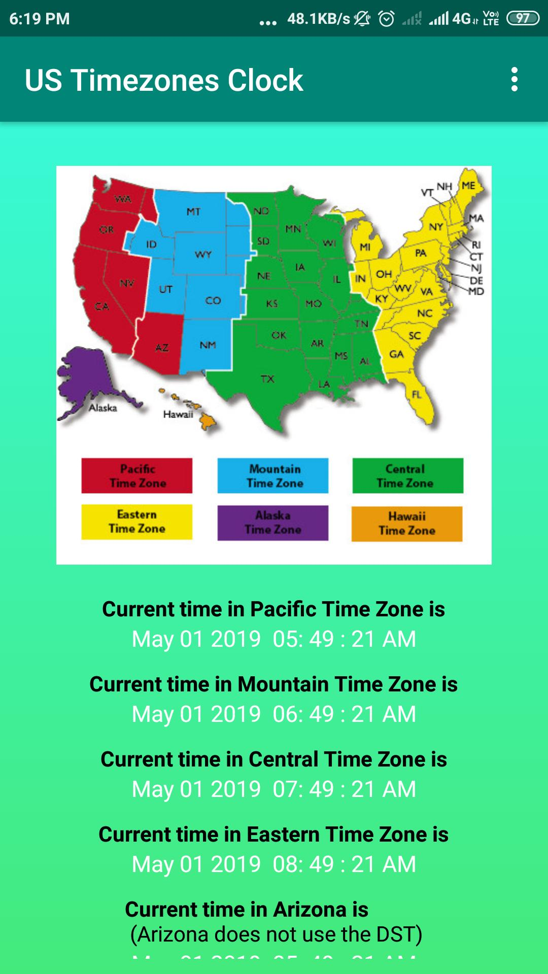 US Timezones Clock for Android - APK Download