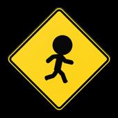 Jaywalking Stickman icon