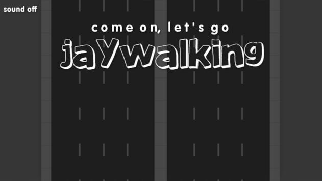 Jaywalking Stickman poster
