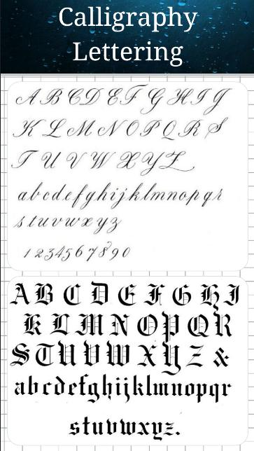 Fountain Pen Calligraphy Fonts Lettering For Android Apk Download