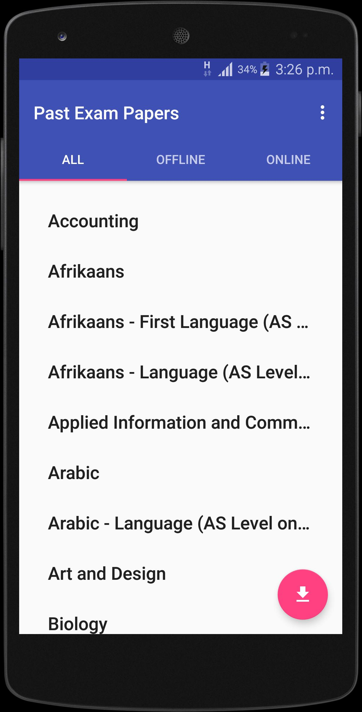 Past Exam Papers for Android - APK Download