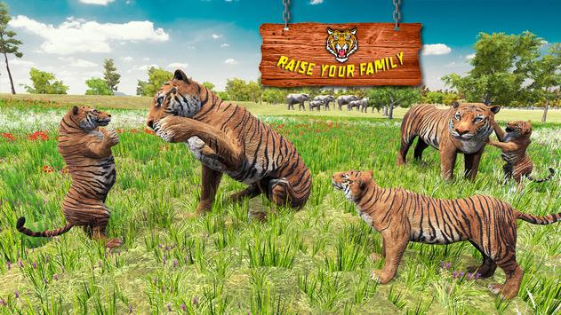 Ultimate Tiger Family Wild Animal Simulator Games постер