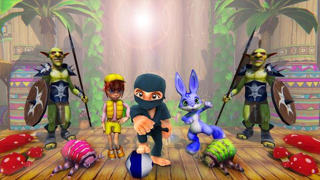 Stickman Ninja Kid Jungle poster