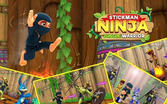 Stickman Ninja Kid Jungle screenshot 11