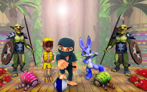 Stickman Ninja Kid Jungle screenshot 12