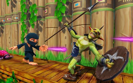 Stickman Ninja Kid Jungle screenshot 13