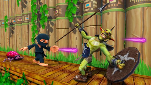 Stickman Ninja Kid Jungle screenshot 2