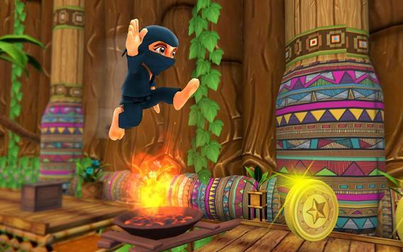 Stickman Ninja Kid Jungle screenshot 8