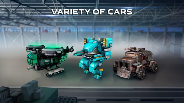 Blocky Cars - pixel shooter, tank wars screenshot 3