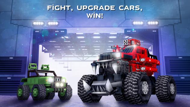 Blocky Cars - pixel shooter, tank wars screenshot 4