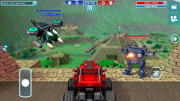 Blocky Cars - pixel shooter, tank wars screenshot 7