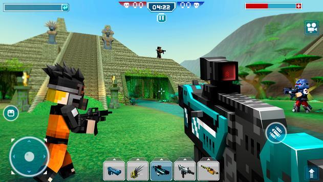 Blocky Cars - pixel shooter, tank wars screenshot 2