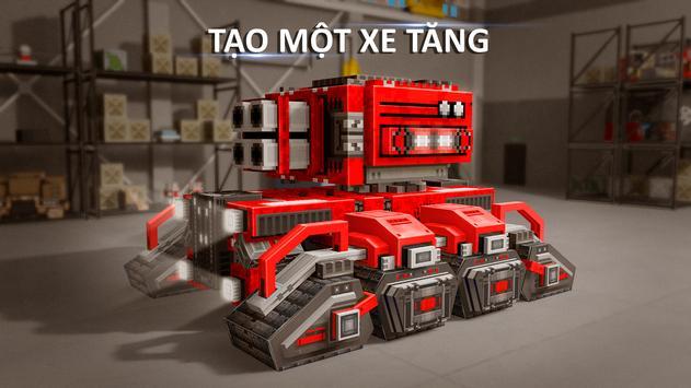 Blocky Cars - Trò chơi Xe tăng ảnh chụp màn hình 14