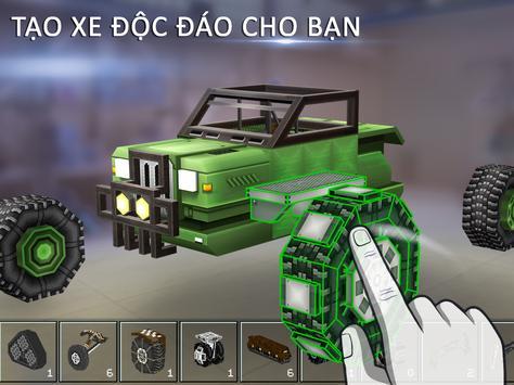 Blocky Cars - Trò chơi Xe tăng ảnh chụp màn hình 2