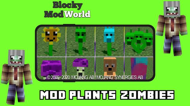 Mod Plants vs. Zombies [For MCPE] screenshot 1