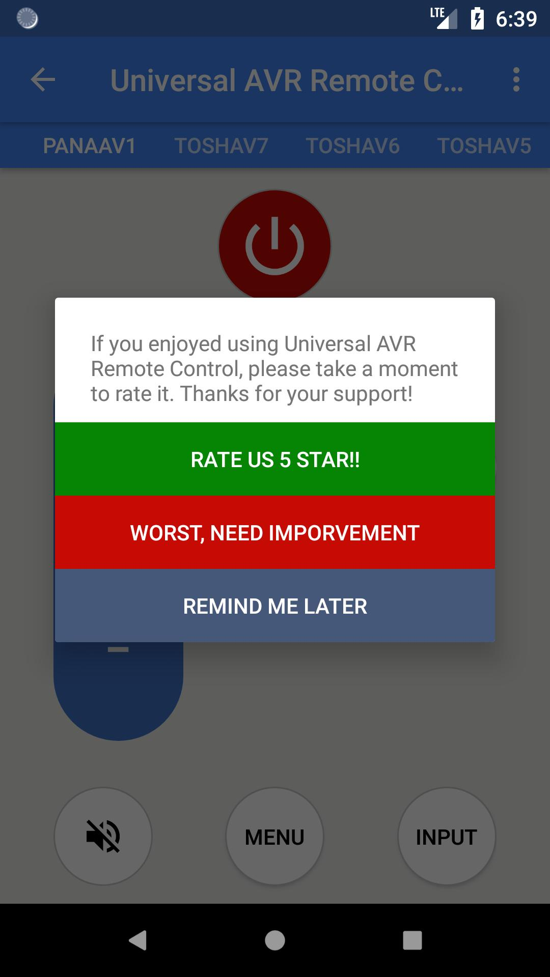 Universal AVR Remote Control for Android - APK Download