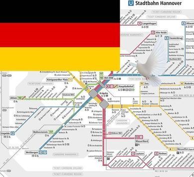 Hannover Metro, Bus, Tour Map Offline電車メトロオフライン地図 poster