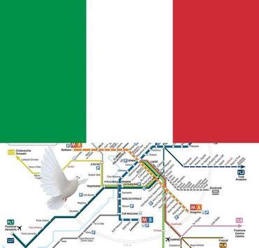 Rome Metro, Train, Bus, Tour Map Offline poster