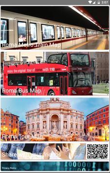 Rome Metro, Train, Bus, Tour Map Offline screenshot 1