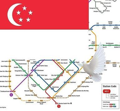 Singapore Metro, Bus, Tour Map Offline メトロオフライン地図 poster
