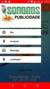 Sonoros Publicidade e Web Rádio ảnh chụp màn hình 1