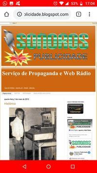 Sonoros Publicidade e Web Rádio ảnh chụp màn hình 2