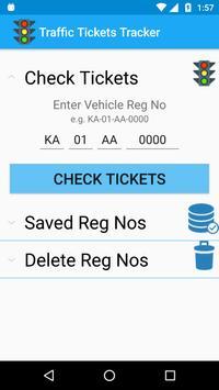 Traffic Tickets Tracker screenshot 1