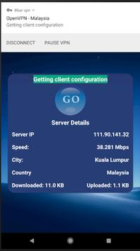 Blue VPN free Unlimited Bandwidth screenshot 3