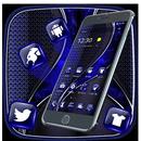 Dark blue leather theme APK