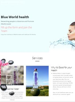 Blue World Health poster