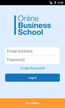 Online Business School poster