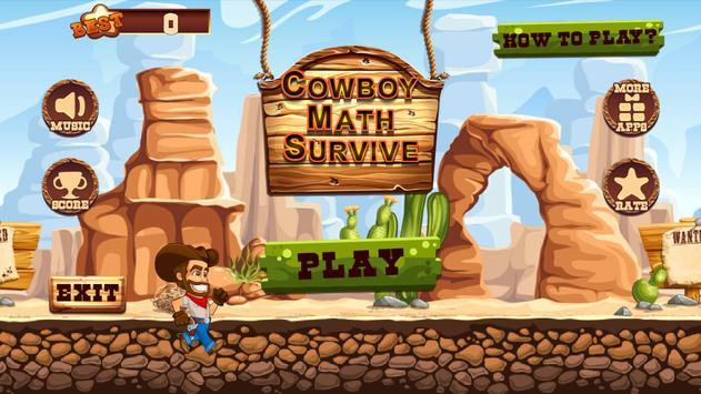 Cowboy Math Survive screenshot 1