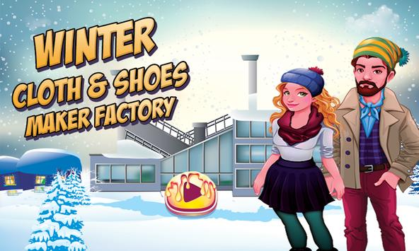 Winter Cloth & Shoes Maker Factory: Dress Game poster