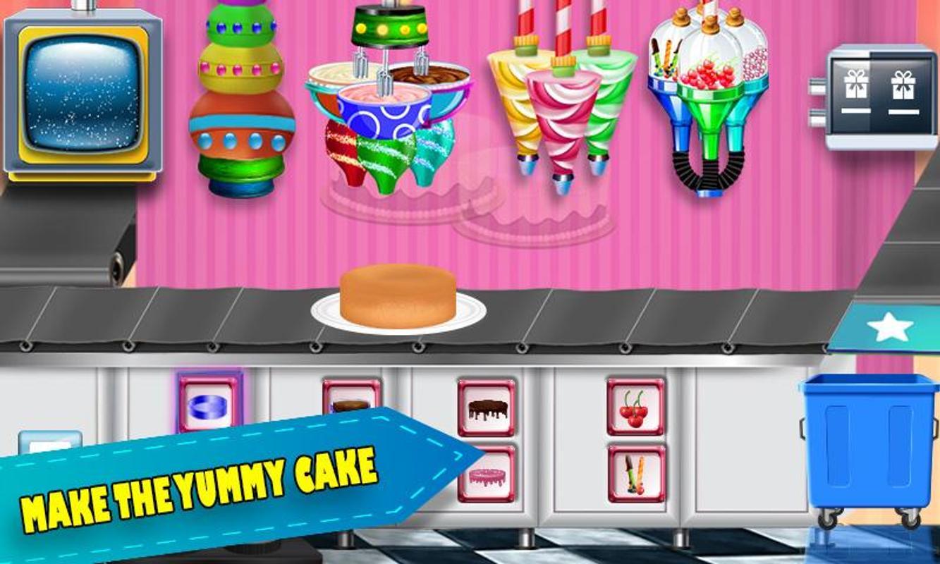Birthday Chocolate Cake Factory Dessert Food Game Screenshot 1