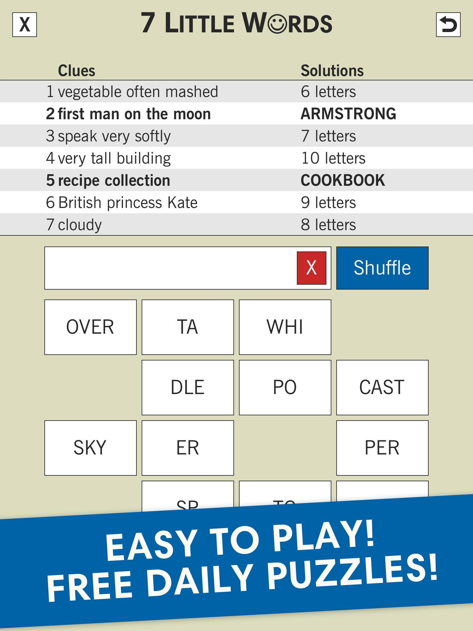 7 Little Words: A fun twist on crossword puzzles for ...