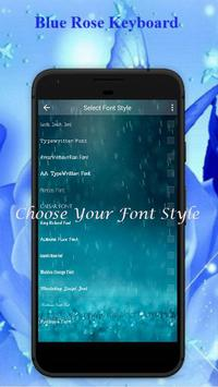 Blue Rose Keyboard Theme screenshot 3