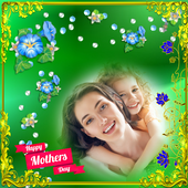 Happy mother's day photo frame 2019 icon