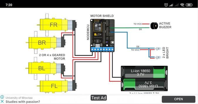 ESP8266 WiFi Robot Car screenshot 1